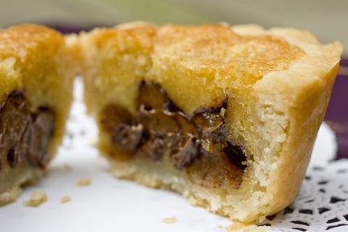 Chocolate Chip Cookie Pies cut
