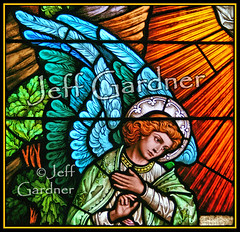 Angel of the Resurrection (*Jeff*) Tags: church window catholic stainedglass northdakota grandforks