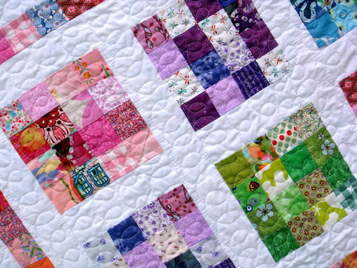 girls crayon quilt detail