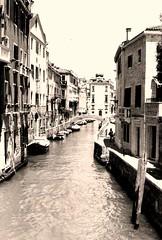 Venice, Italia (Sheeda Jasmine) Tags: venice italy canal sepiatone