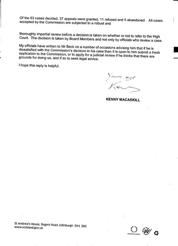 Letter From MacAskill To Bill Kidd page 2