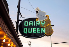 Dairy Queen (annabellemartensen) Tags: trip bike neon cone dusk montreal adventure icecream dairyqueen softserve mtlguessed