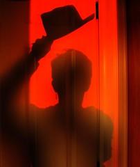 I take my hat off to you all! (peggyhr) Tags: door friends sunset shadow red orange brown canada black hat lines edmonton curves explore textures sp alberta explorethis diamondclassphotographer flickrdiamond peggyhr circleofarts betterthangood artinternational explorewinnersoftheworld 0530a