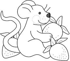 Rato e morangos/Mouse and strawberries ( Reino J Cheguei ) Tags: pattern riscos moldes reinojcheguei