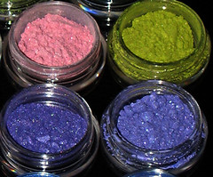 Pretty pretty (AxSDenied) Tags: pink blue color colour green yellow sparkles shiny colorful purple bright makeup yay powder sparkle collection sample colourful eyeshadow sparkly addiction loose haul fyrinnae