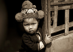 Yao minority boy - Laos (Eric Lafforgue) Tags: boy hat kid asia child culture tribal explore asie tradition tribe laos enfant lao yao mien  coiffe tardition 5366 lafforgue   laosa   iumien  laosz  headddress  laosas