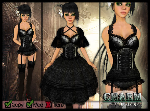 """Charm"" Gothic Lolita Corset Dress"