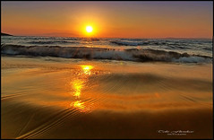SpLaSh! (tolis*) Tags: sea sparkles sunrise canon reflections island eos gold waves aegean tokina greece soe chios 50d 1224f4 tolis    flioukas