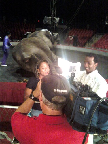 Bill and Adrianne @ UniverSOUL Circus