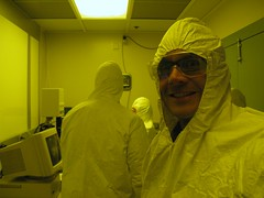 Mob In The Clean Room (bikesandwich) Tags: mike glasses goggles science safety mob bunnysuit cleanroom dustfree biblicone