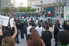 Thursday Iran election protest in Union Square in San Francisco (Steve Rhodes) Tags: sf sanfrancisco california ca june election iran protest elections unionsquare 2009 iranelection iranelections june09 june2009