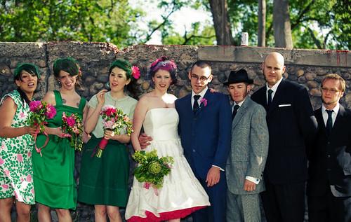 Cheap Wedding Dresses Albuquerque: Jessi & Sean's Outdoor Vintage Scooter Wedding