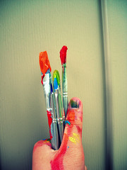 p a i n t & m e . + 5 (Happiness.Is.You.) Tags: outside rainbow paint hand finger yay haha wooo somesooc ihavetogocleanthehousenow mcobj ahhimbored