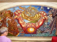 Beyond the Centennial (pocket litter) Tags: art oklahoma painting mural oklahomacity statecapitol tello carlostello