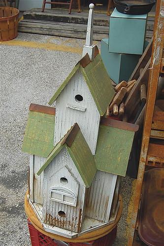 vintage chapel birdhouse