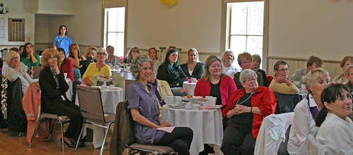 About sixty people attended the Bayfield and Area Chamber of Commerce's Luncheon and Fashion Show held at the Bayfield Town Hll on Mother's Day afternoon.