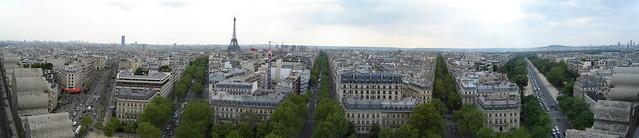 Párizs panoráma a Diadalívről (Dél)