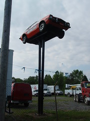 car on a stick!