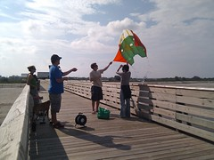 Kite mapping the oil spill at Long Beach Mississippi