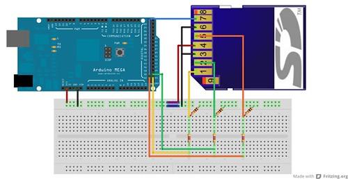 esquema elétrico arduino e cartão sd-mmc