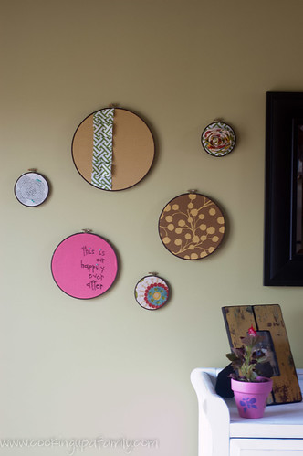 Close Up of hoops in kitchen