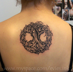 celtic tree tattoo (Evie's Ink) Tags: white black tree tattoo ink celtic evie evies shading