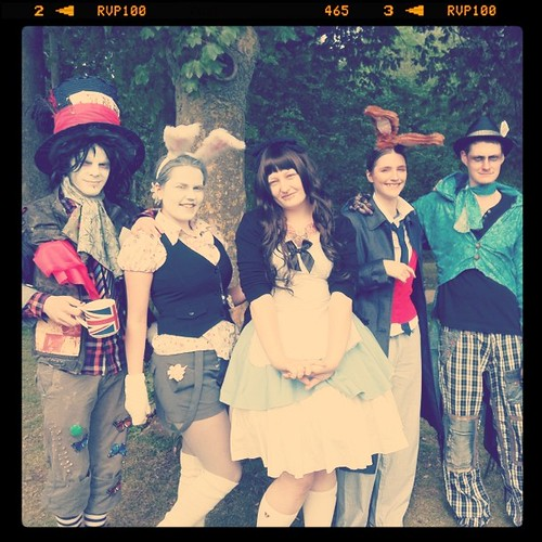 Disney mad hatter, White rabbit, Alice, march hare, and elegant mad hatter!