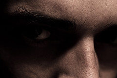 33.17 (Photo Munki) Tags: selfportrait eye me dark grit idiot grain angry stoopid brow