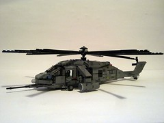 MAH-68 Assault Helicopter (Babalas Shipyards) Tags: support lego aircraft military air helicopter moc tactical