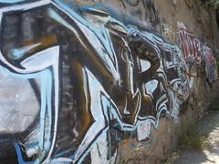 NBF (esteloco27) Tags: rock river graffiti la chinatown tag tags crew freeway ag pasadena graff piece bombs landy fill nbf piecet
