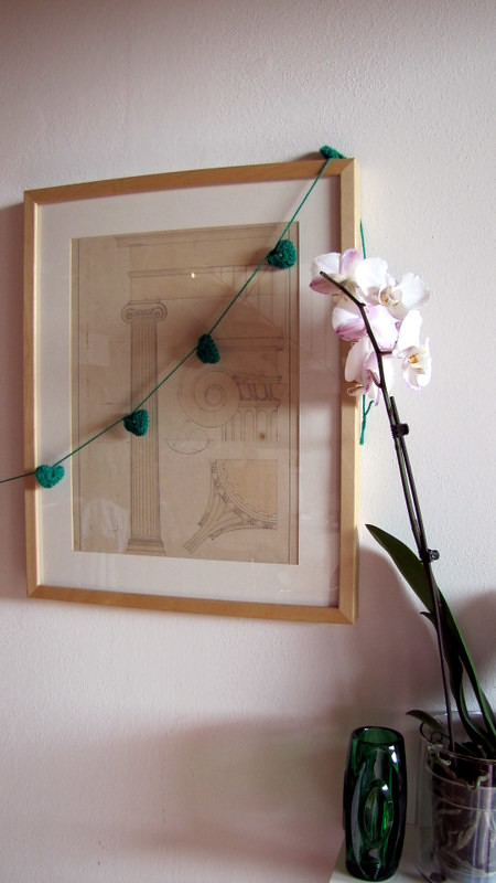 crochet green garland