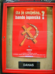 What's so funny? (p medved) Tags: poster theater play cross croatia communist zagreb croazia hrvatska kroatien zagabria