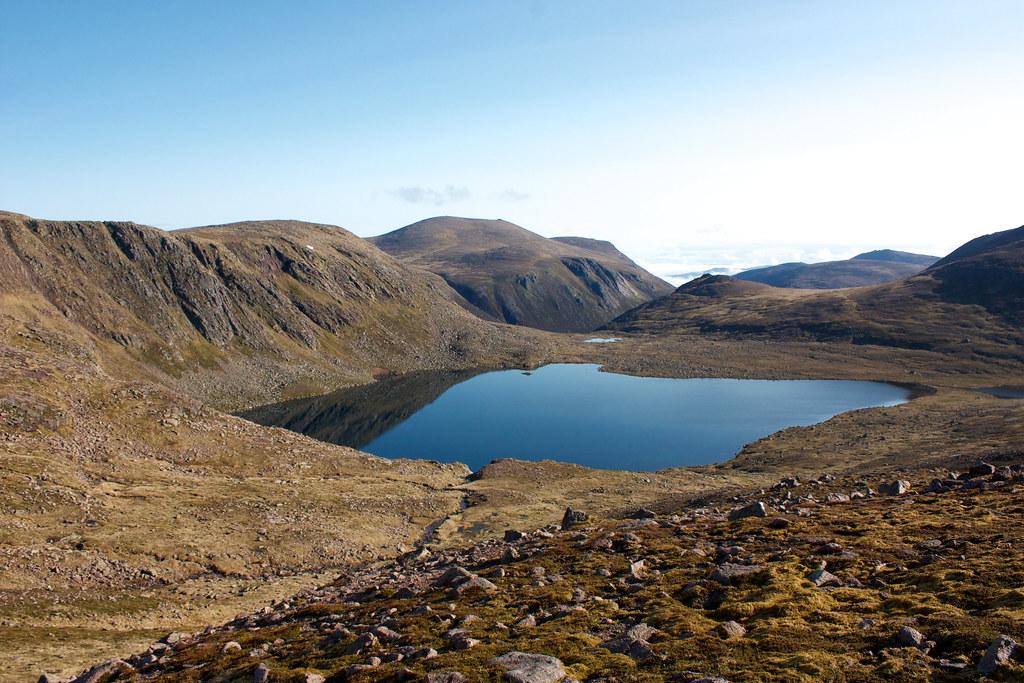 Cairn Gorm beyond Loch Etchachan
