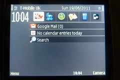 Nokia E72 display