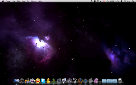 Shown Above : Leopard Space Wallpaper via Apple Wallpapers, Gorgeous!