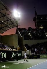 Capitala Sunset - Andy Murray (ZiZLoSs) Tags: world sunset sky sun andy canon eos championship tennis final rafa abu dhabi murray 2009 nadal aziz abo 28200mm  rafeal  abdulaziz  morrey    450d  zizloss capitala  3aziz almanie  photoziz