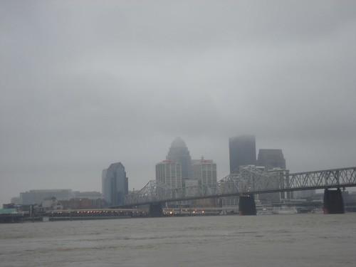 Louisville, Kentucky from Jeffersonville, Indiana - January 10, 2009
