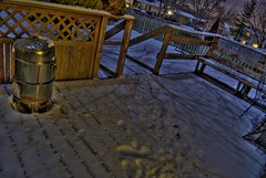 smoker (matthewnorth) Tags: shadow snow tree night deck nighttime moonlight smoker hdr treeshadows moonshadows photomatix