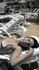Sunbathing woman (Daria Angeli) Tags: sea people turkey europe sunbathing potraits princesislands