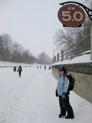 5.0 mark on the Rideau Canal