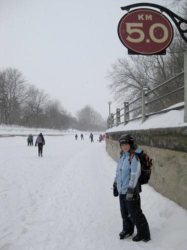5.0 mark on the Rideau Canal