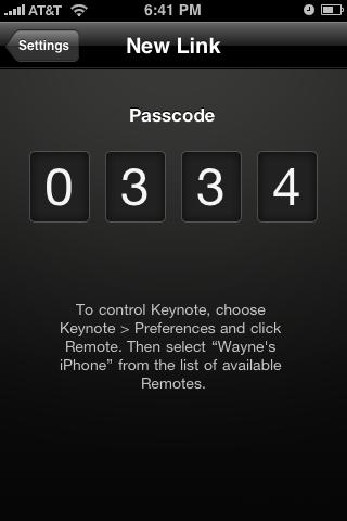 Keynote Remote app Code
