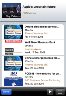 Truveo iPhone app - related videos