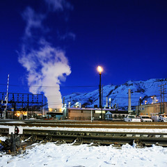 Vertorama: Blue Hour Steam (jssutt) Tags: longexposure blue submitted night lights utah steam saltlakecity hour bluehour tesoro oilrefinery beckstreet jssutt jeffsuttlemyre