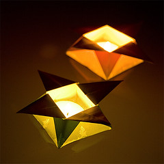 If at first you don't suceed.. (iko) Tags: light flower color fleur paper japanese origami eau lumiere fold 500 papier proofofconcept folding japonais bougie flotte pliage
