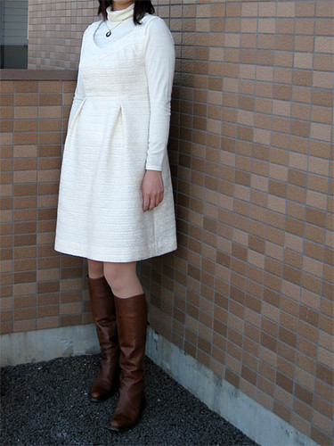 "dress ""brigitte"" in cream"