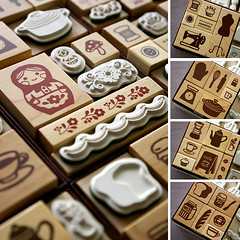 japanese stamp set (karaku*) Tags: set japanese wooden pattern box rubber stamp kawaii etsy stationery rubberstamp zakka japanesepattern
