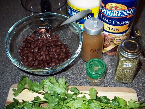 ingredients for black bean burgers