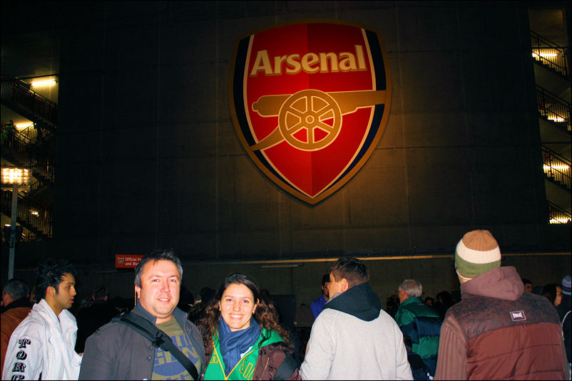 Lu and I at the Emirates Stadium