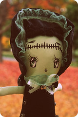 Frankenstella (boopsie.daisy) Tags: autumn cute green doll handmade homemade frankenstein daisy bunka boopsie boopsiedaisy frankenstella